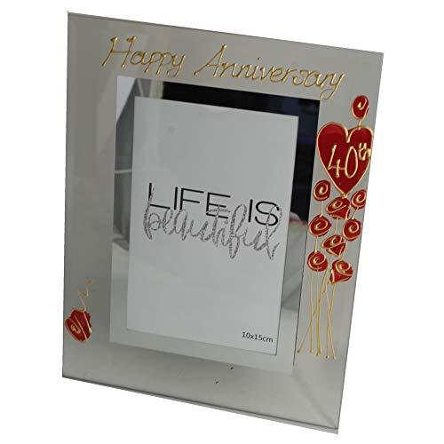 (Dreamair 40th Anniversary Photo Frame: Port (Flower) (Ruby Wedding Anniversary))