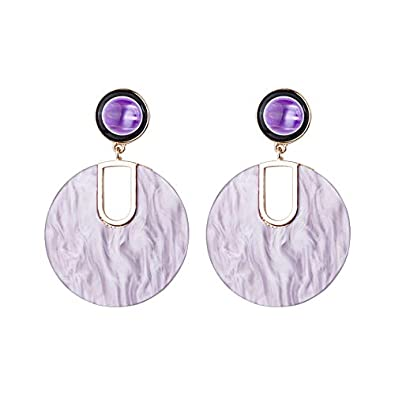 Alloy Resin Big Round Drop Brincos Oversized Statement Jewelry Earrings
