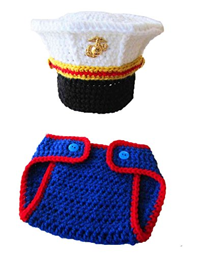 mg-house-newborn-baby-photo-photography-prop-handmade-crochet-knitted-cute-marines-outfit-soft-bib