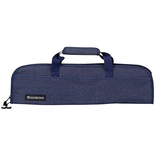 - Messermeister 5 Pocket Denim Knife Storage Roll/Bag/Luggage - Blue