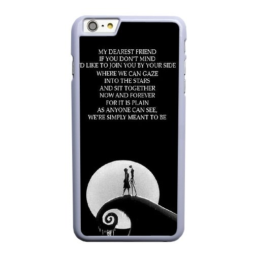 Coque,Apple Coque iphone 6 6S (4.7 pouce) Case Coque, Generic Nightmare Before Christmas Quotes Cover Case Cover for Coque iphone 6 6S (4.7 pouce) blanc Hard Plastic Phone Case Cover