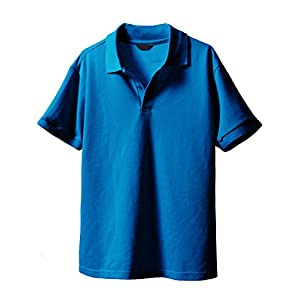 H2H Mens Casual Button Up Slim Fit Sport Polo Shirts Short Sleeve BLUE US XS/Asia S (KMTTS061)