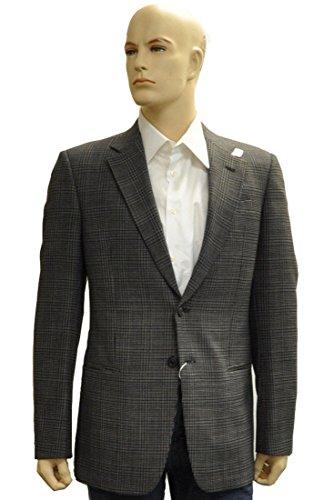 Armani Collezioni Black Polyester Jacket Coat, 44R, (Armani Collezioni Jackets)