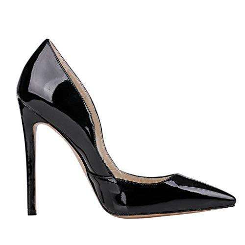 EKS - Zapatos de Tacón Mujer Negro - Schwarz-Lackleder