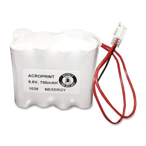 Acroprint 58-0108-000 Optional Back-Up Ni-Cd Battery Pack, 8.4 Volts, 700mAH, For Use with ES900 Atomic Time Recorder and ES1000 Atomic Payroll Recorder