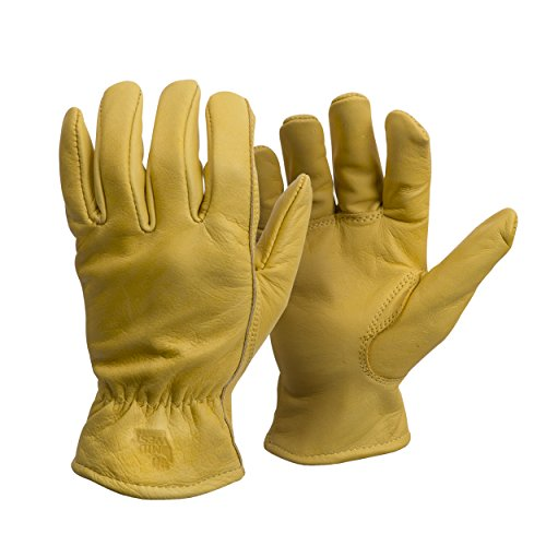 - American Made Genuine Elkskin Leather Work Gloves , 950, Size: Large