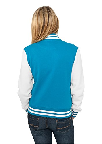 Col Urban cou Turquoise Veste Teddy Blanc Manches ras Classics longues de sport Multicolore du Femme pgXgUxZ