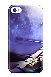 Iphone 4/4s Hard Back With Bumper Silicone Gel Tpu Case Cover Fate/stay Night