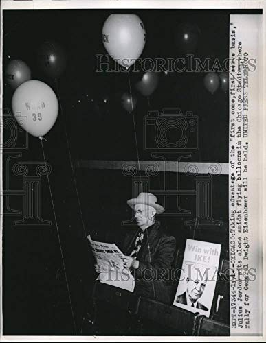 Historic Images - 1952 Vintage Press Photo Chicago, Julius Jordan at Stadium for Eisenhower rally