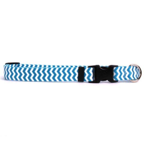 Yellow Dog Design Standard Lead, Chevron Blueberry, 3/8