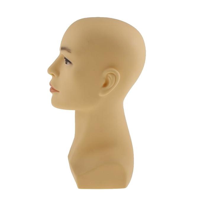MagiDeal Cabeza Maniquí de Hombre Modelo de Exhibición de Joyería Sombrero Peluca - Amarillo: Amazon.es: Hogar