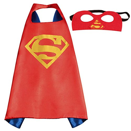 Athena DC Superheroes Dress Up - Superman Logo Cape and Mask Gift Box Included