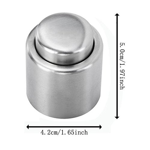 Stainless Steel Vacuum Sealed Red Wine Storage Bottle Stopper Plug Bottle Cap