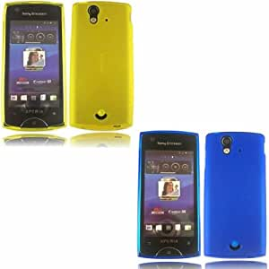 2 Pack Gel Cubrir Caso Piel Para Sony Ericsson Xperia Ray / Yellow And Blue