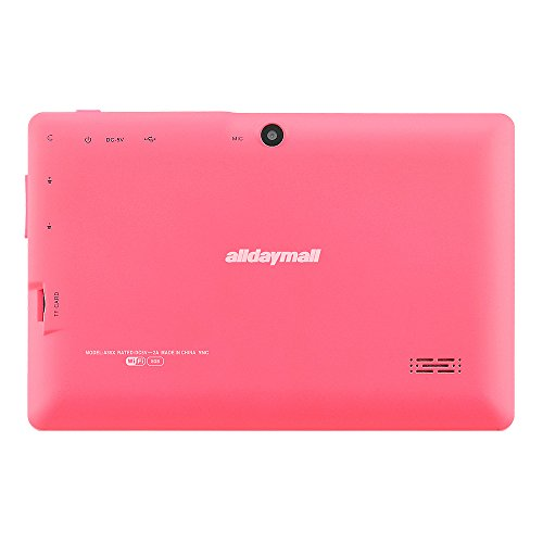 """Alldaymall A88X 7"""" Tablet – Cheapest Tablet PC for Kids – Pink"""