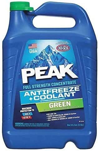 PEAK Antifreeze Coolant Green Full Strength, Full Strength Concentrate 1 gal.