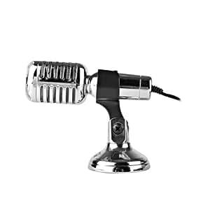 Qoopro 17005 Micrófono Retro Locutor con Soporte