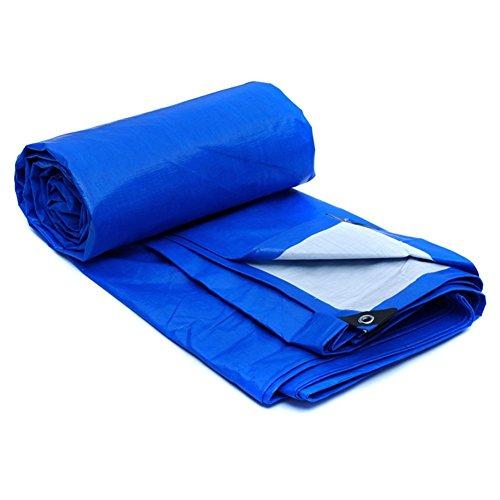 LIANGLIANG Tarpaulin Heavy Duty Sheet Waterproof Rainproof Shading Outdoor Metal Buttonhole Plastic, 7 Sizes (Color : Blue, Size : 2.8x1.8m) by LIANGLIANG-pengbu