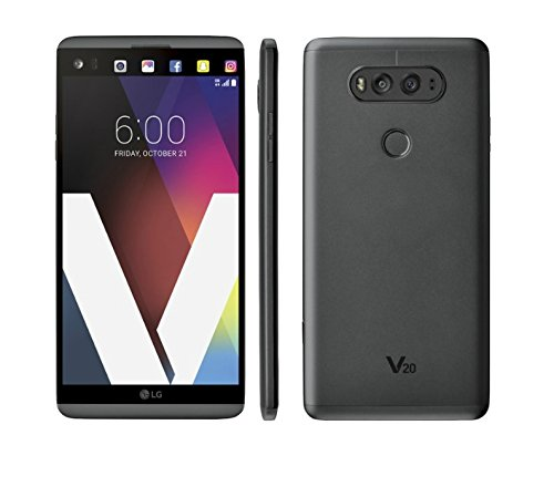 LG V20 H918T T-Mobile 4G LTE Quad-Core Phone w/Dual Rear Camera (16MP+8MP) - Titan