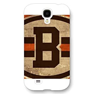 Customized NFL Series For CaseSamsung Galaxy S4, NFL Team Cleveland Browns Logo Samsung Galaxy S4 Case, Only Fit for Samsung Galaxy S4 (White Frosted Shell)