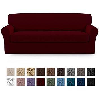 Amazon.com: TIANSHU - Funda para sofá de poliéster y licra ...