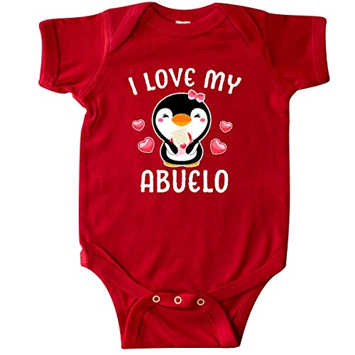 (inktastic - I Love My Abuelo with Cute Penguin Infant Creeper Newborn Red 342e2)