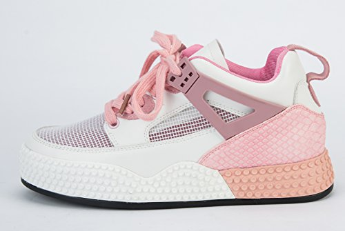 D2c Beauty Mujeres Con Cordones Breatha Bungee Fashion Sneakers Rosa