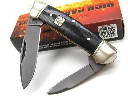 Amazon.com: Rough Rider Negro canoa 2 – Cuchilla de acero al ...