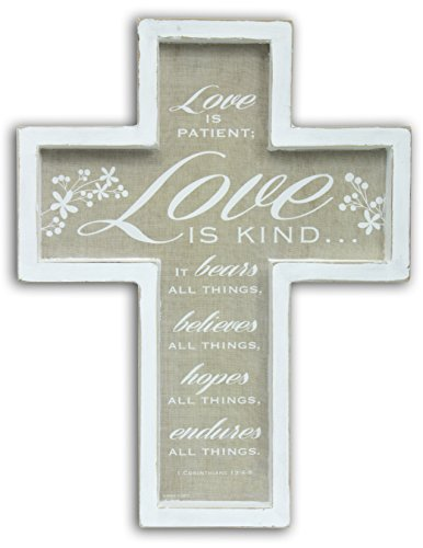 Abbey Gift Love is Patient Framed - Cross Patient