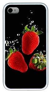 Fresh Cherry pc White Case for iphone 4S/4