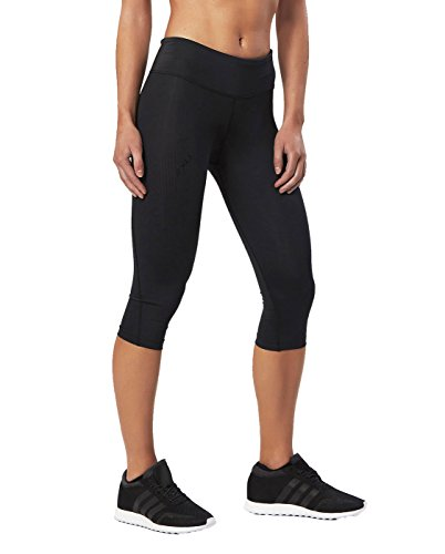 - 2XU Women's Mid-Rise Compression 3/4 Tights (Black/Dotted Black Logo, Large)