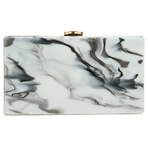 SSMK Clutches Handbags - Cartera de mano para mujer multicolor blanco y negro