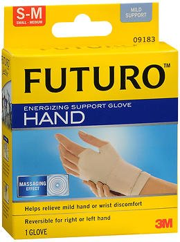 FUTURO Energizing Support Glove Hand Mild Support S-M 1 Each