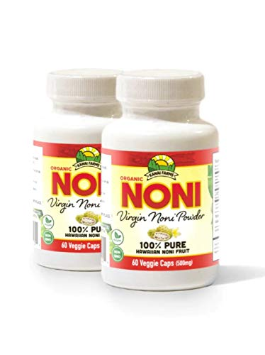 Virgin Noni Powder – 100% Pure Noni Powder Capsules, Certified Organic – Pack of 2 Bottles Review
