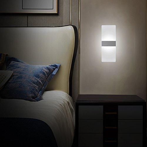 LED Lampada da Parete Interno 12W Bianco Freddo, Moderno Applique da ...