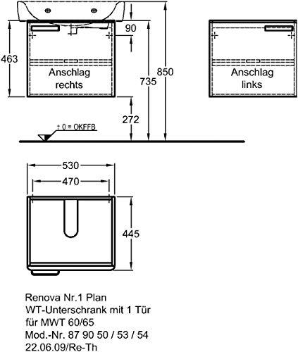 Keramag Wt Unterschrank Renova Nr1 Plan Amazonde Küche Haushalt