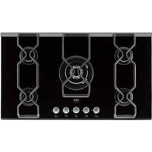 AEG 99454GB built-in gas heater black Integrado Encimera de gas Negro - Placa (Integrado, Encimera de gas, Negro, 830 mm, 480 mm, 30 mm)