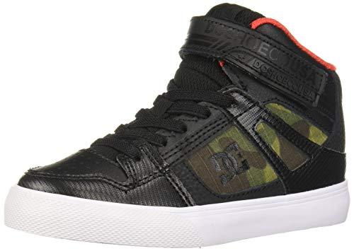 DC Boys' Pure HIGH-TOP SE EV Skate Shoe, camo, 4 M M US Big Kid (Boys High Top Shoes Dc)