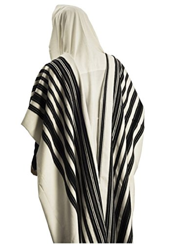 100% Wool Tallit Prayer Shawl Model CHABAD Size 46'' L X 67'' W 50-H by Talitania (Image #6)