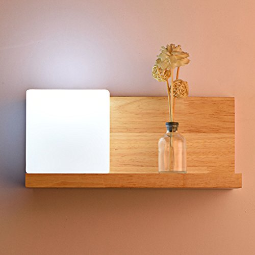 YLSZ-Modern Wall Lights Led Wall Lamp Bedside Lamp Continental Modern Wooden Staircase Square