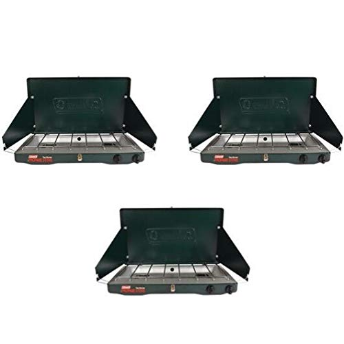Coleman Gas Stove | Portable Propane Gas Classic Camp Stove with 2 Burners (Green, 3 Pack) by Coleman