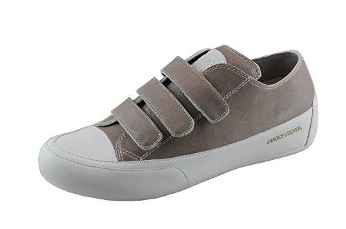 Candice Cooper Klippedue Rem 01 (taupe) Pufret (kalbleder) Grundlæggende Hvid Sneaker Dame Klett Due (taupe) 3i04PMCaY