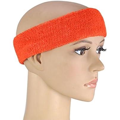 Cikuso Neon Sweatband HEADBAND amp WRISTBANDS FANCY DRESS FUN RUN Orange Estimated Price -
