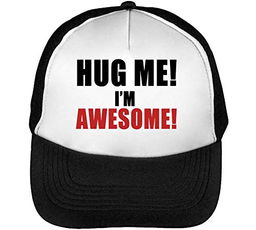 Me Hombre Hug Slogan Awesome Negro Gorras I'M Snapback Blanco Beisbol B64qH4Wa