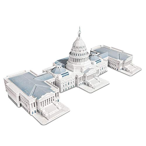 CubicFun 3D Puzzles for the U.S. Capitol Architectures Building Model Kits Toys for Adults and Teens, 132 Pieces from CubicFun