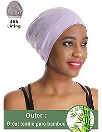 Premium Elastic Sleep Cap Slap Beanie Hat – Satin Silk lined 81f68baec0ab