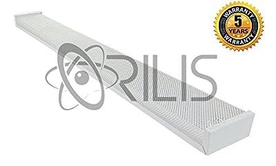 White 4-foot 2-light Ceiling Light Fixture with 2x LED T8 24 Watt Tubes