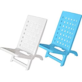 Areta Giorg White Beach Chair, Camping, 57 x 37 x 60 cm