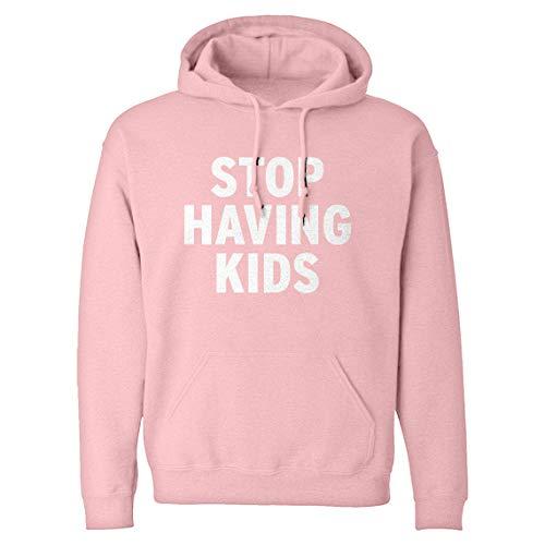 Indica Plateau Hoodie Stop Having Kids Medium Light Pink Hooded Sweatshirt