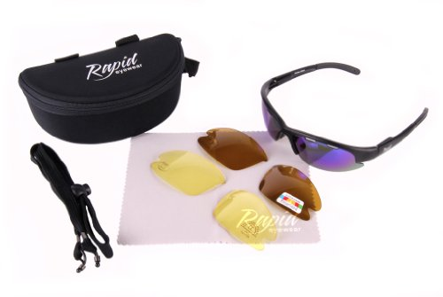 Ft Soleil Verres Nimbus buée polarisés Sport Lunettes Lumière Faible Interchangeables Rapid Noir Eyewear Uv400 Bleus Et Miroir De protection Avec Anti qw1Enf8